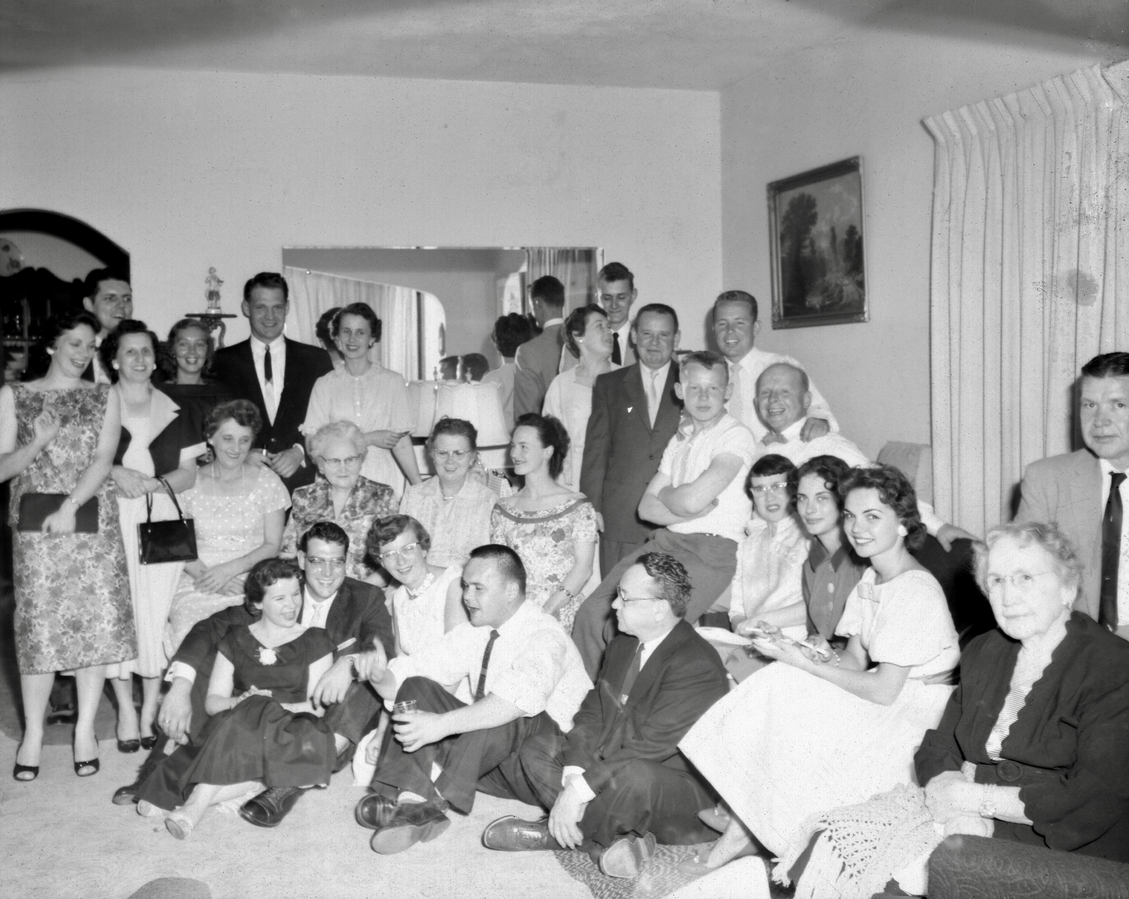 Engagement party for David D. Hanneman and Mary K. Mulqueen in June 1958