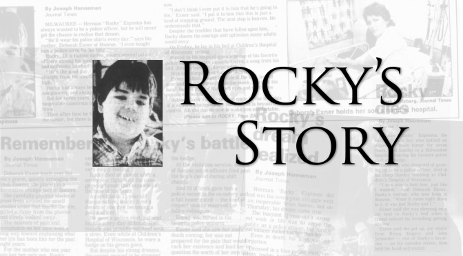 Racine's Rocky Has His Own Tale of Courage