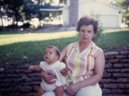 Mary K. Hanneman with daughter Margret Mary, 1967.