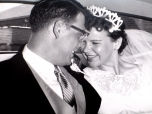 David D. and Mary K. Hanneman, wedding day 1958