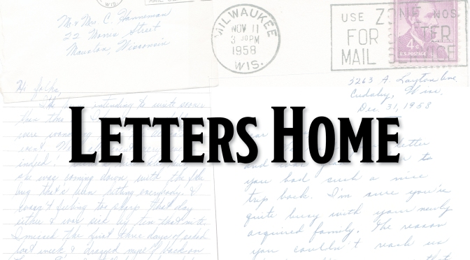 A Glimpse at Life Through Letters Home, 1958-59
